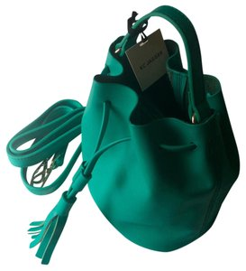 KC Jagger Turquoise Leather Bucket Kc Shoulder Bag