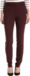 Barneys New York Wool Suit Business Casual Trouser Pants Red