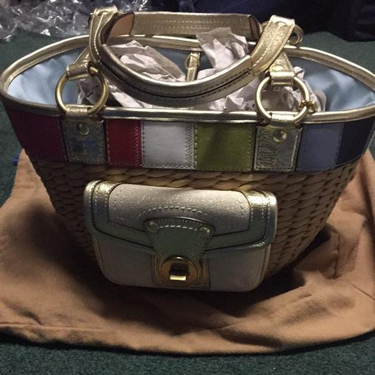 Coach Tote in Gold/multi