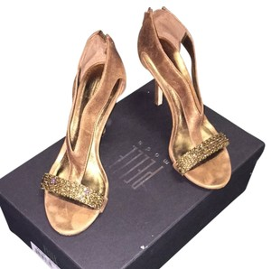 Pelle Moda Bronze Metallic Kid Suede Formal