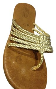 Cliffs Braided Sandal Gold metallic Sandals
