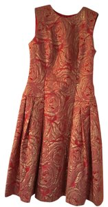 Carmen Marc Valvo Brocade Dress