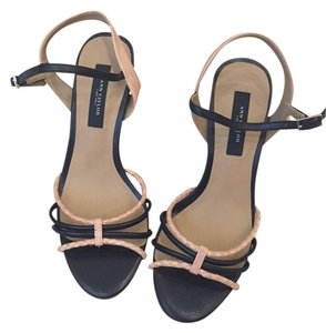 Ann Taylor Black Dressy Summer Evening Black & Sandals