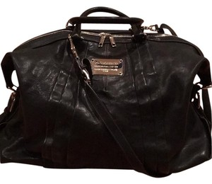 Dolce&Gabbana Leather Soft Chic Comfortable Satchel in Black