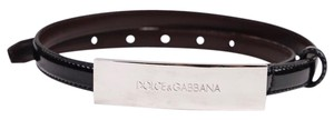 Dolce&Gabbana Dolce & Gabbana Black Patent Leather Belt