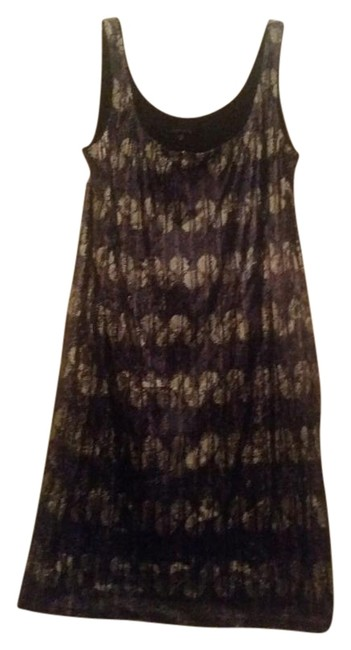 Item - Blue/Silver Sequin Above Knee Night Out Dress Size 8 (M)