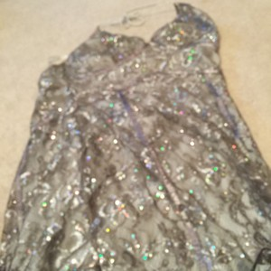 Express short dress Silver on Tradesy