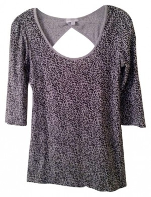 Cotton On T Shirt Grey/black leopard print