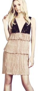 BCBGMAXAZRIA Bcbg Nude Averil Sequin Layered Dress
