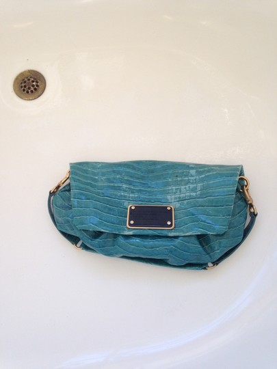 Marc by Marc Jacobs Crocodile Date Night turquoise Clutch