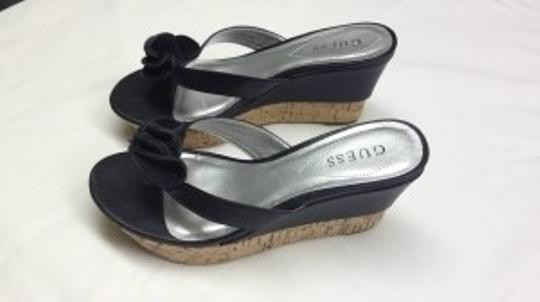 Guess black, silver, cork Wedges