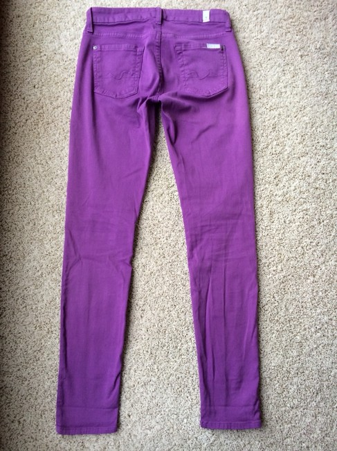 7 For All Mankind Skinny Pants Purple Orchid