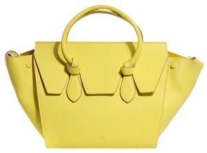 Céline Knot Tie Tie Knot Leather Tote in Flourescent Yellow