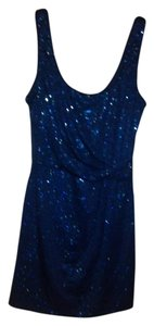 Love Reign short dress Blue Sequince Sexy Sparkle on Tradesy