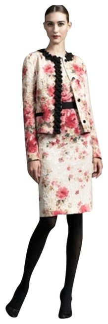 Preload https://img-static.tradesy.com/item/15478156/dolce-and-gabbana-cream-champagne-pink-textured-sheath-mid-length-cocktail-dress-size-4-s-0-17-650-650.jpg