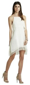 BCBGeneration short dress Whisper White Bcbg Lace Halter on Tradesy