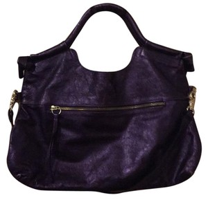 Foley + Corinna Satchel in Metallic Purple