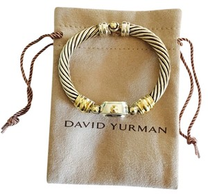 David Yurman David Yurman Cable Watch 18k Yellow Gold And Sterling Silver Mother of pearl dial With Original Pouch Excellent Condition