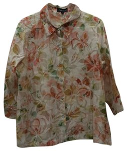 Elementz Top cream floral