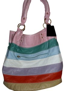Striped Pocketbook Colorful Satchel in multi