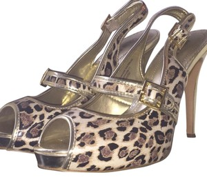 Colin Stuart Cheetah Gold Party Fancy Print Platforms