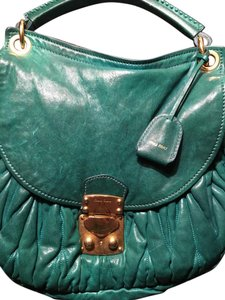 Miu Miu Tote in blue green
