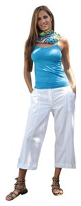 Lirome Summer Casual Resort Capris White