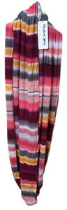 Michael Stars Coral Sherbet Double Face Scarf