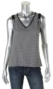 Calvin Klein Klein Sleeveless Striped Top Black White