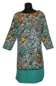 The Limited short dress MULTI Floral Sheath Green Lined on Tradesy