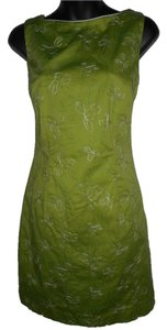 Amanda Smith short dress GREEN Floral Sheath Sleeveless Pencil on Tradesy