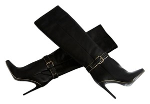 Balmain Boot Leather Classic Black Boots