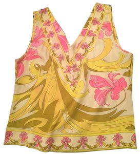Emilio Pucci Top White Yellow Pink