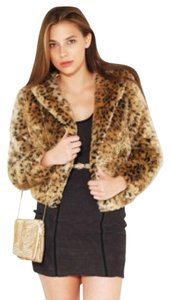 Akira Faux Fur Leopard Animal Print Jacket