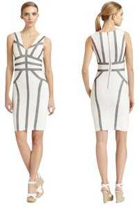 BCBG Max Azria V-neck Sleeveless Sheath Dress