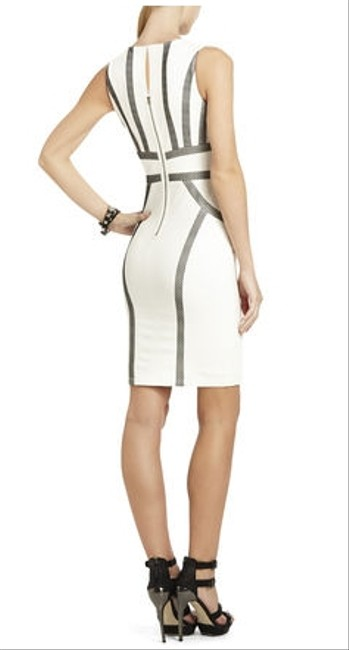 BCBGMAXAZRIA V-neck Sleeveless Sheath Dress
