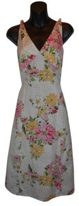 Eddie Bauer short dress FLORAL Sleeveless Full Skirt A-line Halter on Tradesy