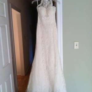 Pronovias Ivory Lace Sale Gown Retro Wedding Dress Size 4 (S)