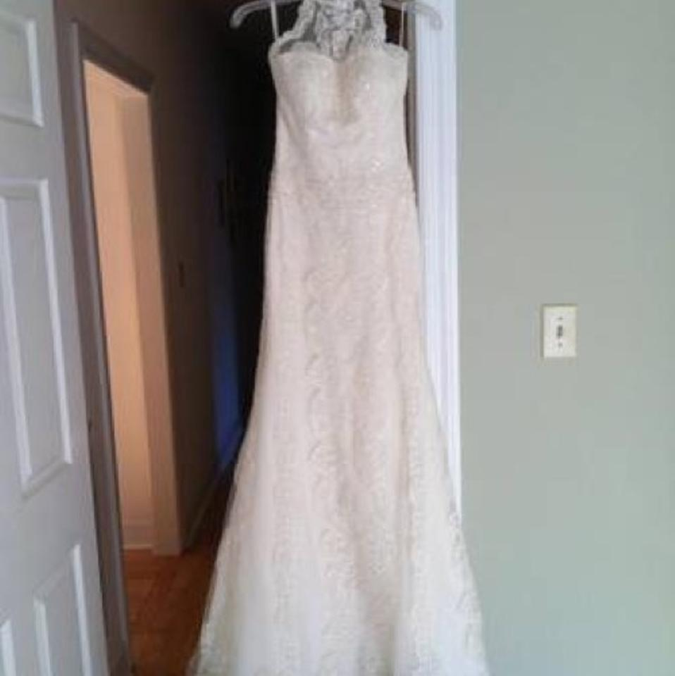 Pronovias Ivory Lace Sale Gown Retro Wedding Dress Size 4 (S) - Tradesy