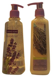 Simple Pleasures Lavender Hand Care by Simple Pleasures; Hand Soap (400ml/13.5 fl.oz) & Body Lotion (250 ml. / 8.4 fl.oz.) - [ Roxanne Anjou Closet ]