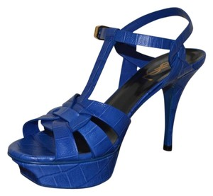 417b86190f4 Blue Saint Laurent Sandals Stiletto Up to 90% off at Tradesy