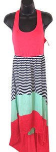 Coral, teal, Maxi Dress by Mossimo Supply Co.