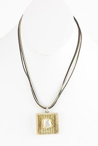 Chico's Chicos 16 4.5 Ext. Silver Brown Bronze Moss Pendant Necklace Bj03