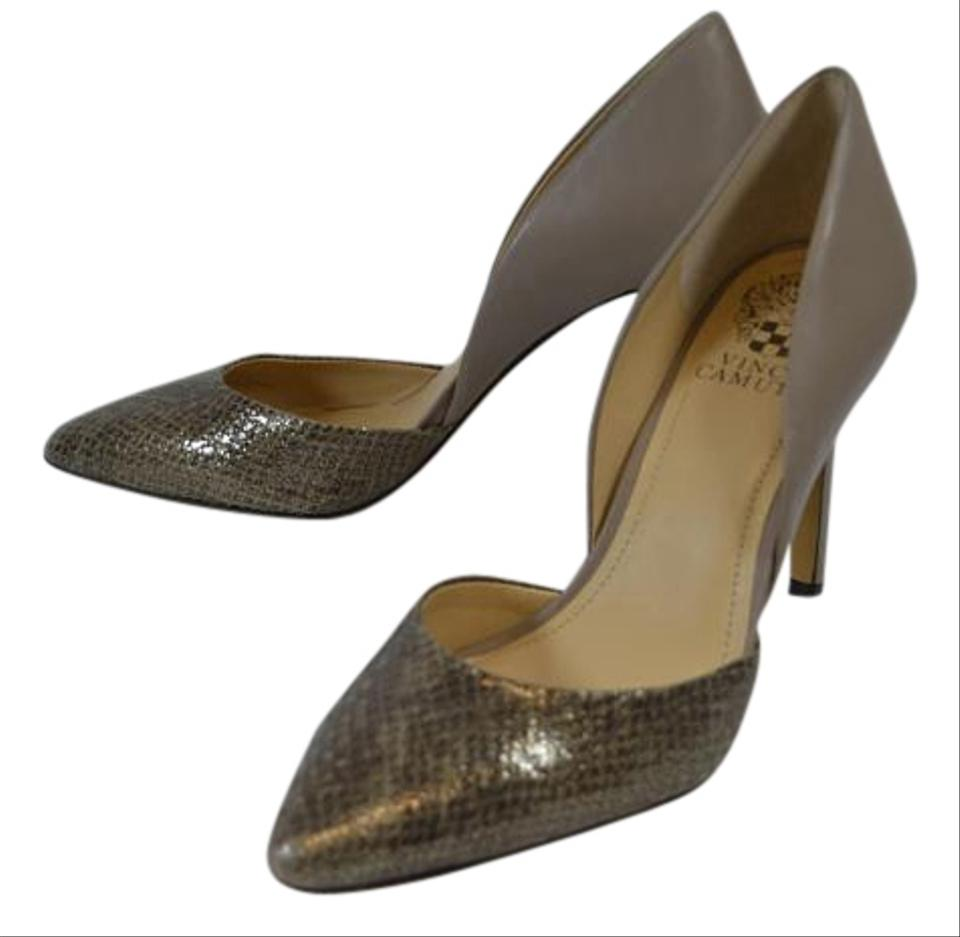 Vince Camuto Taupe Color Snake Skin Pattern Leather Size 7