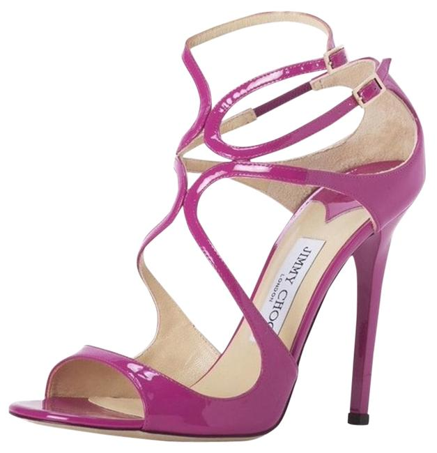 Item - Jazzberry Lance Strappy Patent Leather High Heel Formal Sandals Size US 9 Regular (M, B)