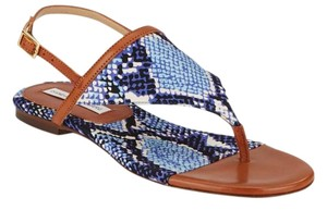 Diane von Furstenberg Blue/Brown Sandals
