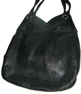 Lauren Merkin Leather Oversized Italian Leather Crinkle Leather Hobo Bag
