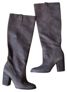 Calvin Klein Suede Heels Taupe Boots