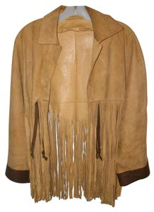 Vintage Hippie Brown Leather Jacket