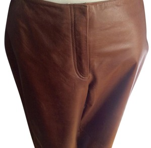 Lane Bryant New With Tags. Nice Leather Straight Pants Brown